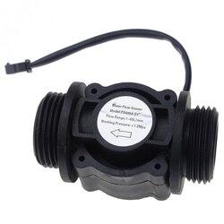 2 sztuk czujnik przepływu wody czujnik przepływu paliwa czujnik miernika wody przepływomierz czujnik wody licznik FS400A G1 DN25 1 60L/Min w Przepływomierze od Narzędzia na