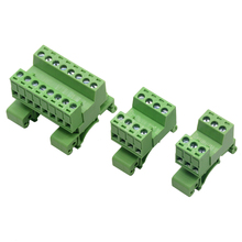 1 шт. шаг 5,08 мм 4pin винт плагин клеммные блоки разъем NS35mm Din рейка Монтажная 15P 16P 20P 12P
