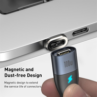 Baseus 100W Magnetic Cable Type C to Type C Cable for Redmi Note Samsung Huawei Oppo PD Fast Charging for MacBook Pro Micro USB Cable