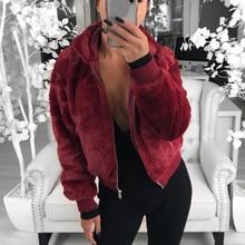 NIBESSER, новинка, Женское пальто из искусственного меха с капюшоном, высокая талия, Модная приталенная черная, красная, розовая куртка из искусственного меха, пальто из искусственного меха кролика