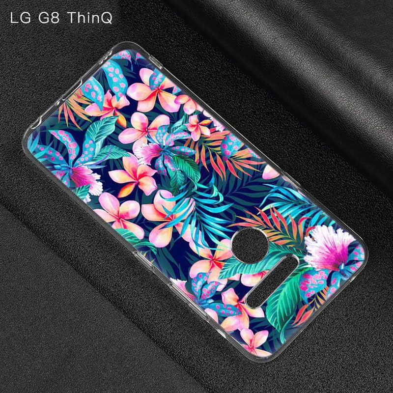 Sommer Blatt Kaktus Pflanzen Fall Für LG G5 G6 Mini G7 G8 G8S V20 V30 V40 V50 ThinQ Q6 Q7 q8 Q9 Q60 W10 W30 Aristo 2 X Power 2 3