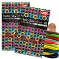 50 шт./лот цветные презервативы резиновые секс-игрушки секс-товары