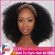 1 2 5 Pcs/Lot Afro Kinky Curly Headband Wig Human Hair Brazilian Remy Hair Full Machine Made Wig For Black Women Jarin Hair