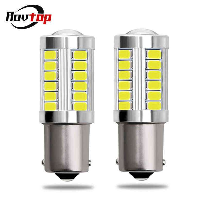 2pcs 1156 7506 BA15S P21W 5630 5730 LED Car Tail Bulb Brake Lights 12V Auto Reverse Lamp Daytime Running Signal Light Z3