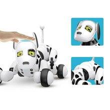 Милые животные умный говорящий интерактивный подарок на день рождения электронная игрушка питомец беспроводной пульт дистанционного управления RC робот собака Led дети