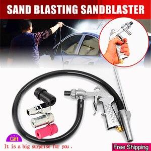 Image 1 - התזת חול אקדח 7Pcs שוחק אוויר חול פיצוץ אקדח ערכת התזת חול מכונה זרבובית צינור חלודה להסיר עבור Sandblast Cabinets2019