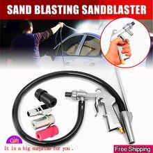 Sandblasting Gun 7Pcs Abrasive Air Sand Blasting Gun Kit Sandblasting Machine Nozzle Tube Rust Remove for Sandblast Cabinets2019