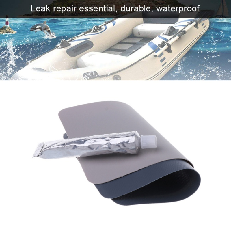 Inflatable Boat Swimming Pool PVC Puncture Repair Patch Glue Kit 30ml Adhesive Canoe 1 Set