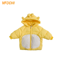 VFOCHI New Girls Down Coats Kids Winter Hooded Jacket Children Windproof Snowsuit Cute Baby Girls Thick Winter Outwear Down Coat стоимость