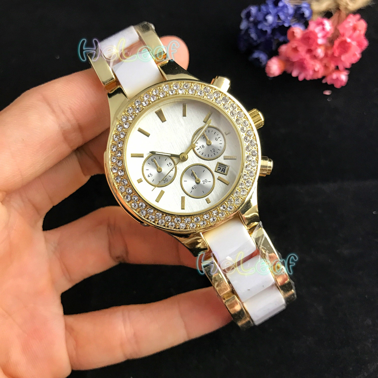 Fashion Brown Gold White Stainless Women Watch Quartz Wrist Watches Ladies Girls Famous Brand Female Clock Montre Femme Reloj