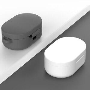Image 3 - Red mi Airdots 용 TPU 소프트 케이스 Red mi Air dots 실리콘 이어폰 보호 커버 케이스 헤드셋 충전 박스 쉘 (후크 포함)