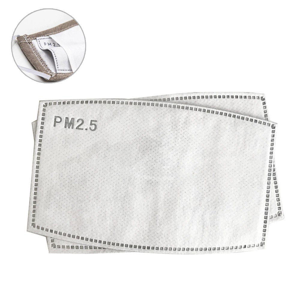 5 Layers PM2.5 Filter Paper Anti Haze Mouth Mask Anti Dust Mask Activated Carbon Filter Paper Health Care Insert Protective