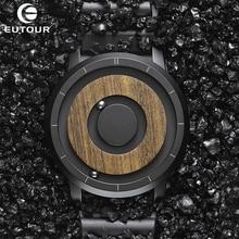 Brown Wood Watch EUTOUR Brand Men Quartz Watches