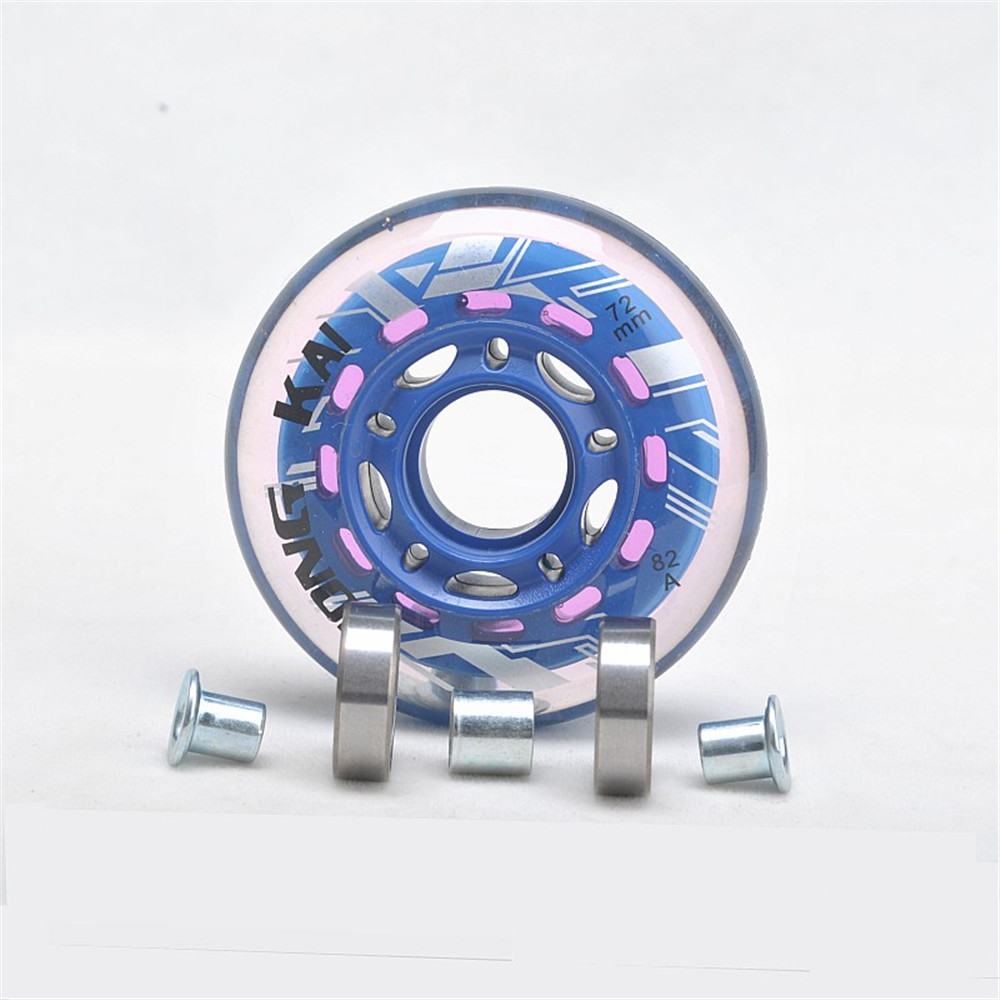 【64mm 70mm 72mm】【82A】Inline Roller Skating Wheels Inline Skate Wheels With Bearing For Inline Skating Skate Shoes 8 Pcs/set