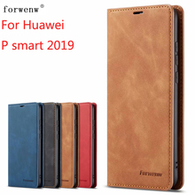 For Huawei P Smart 2019 Case FORWENW Magnetic Phone Honor 10 lite Cover Flip Leather Stand