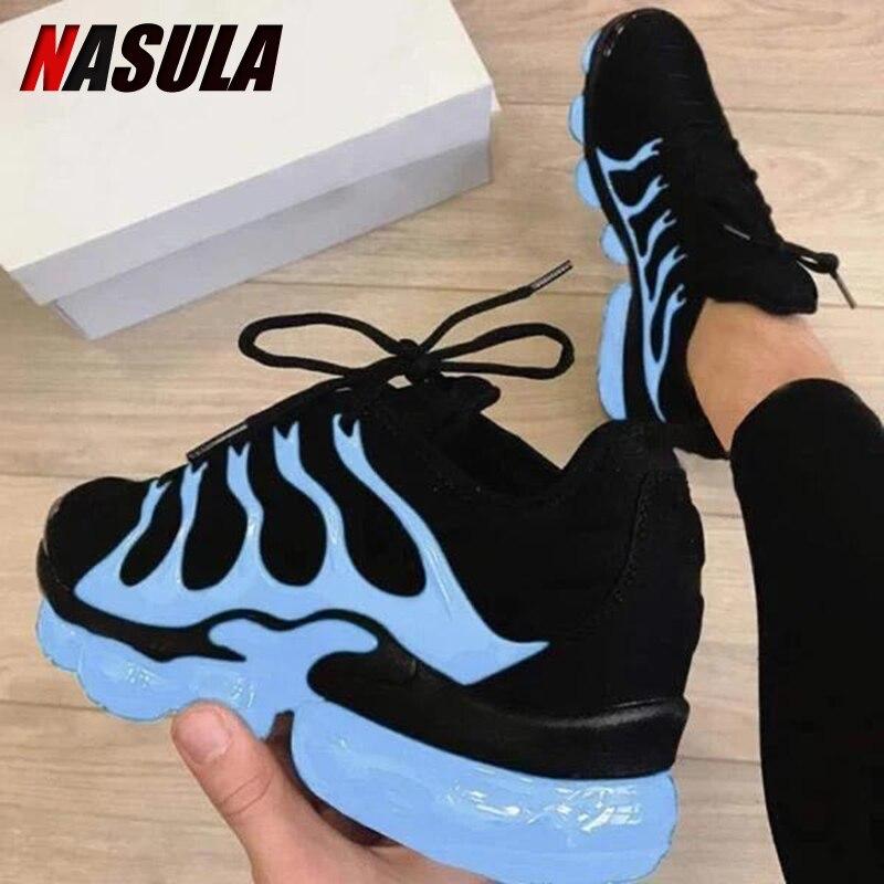 NASULA 2020 frauen Schuhe Herbst Im Freien Turnschuhe Mode Spitze Bunte Komfortable Casual Schuhe Plus Größe 43