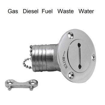 316 Stainless Steel 45 Degree Deck Filler With Key GAS DIESEL FUEL WASTE WATER 38mm 50mm Marine Boat Hardware Caps
