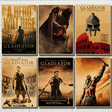Gladiator Classic Movie Kraft Paper Poster Bar Cafe Living Room Dining room Wall Decorative Paintings