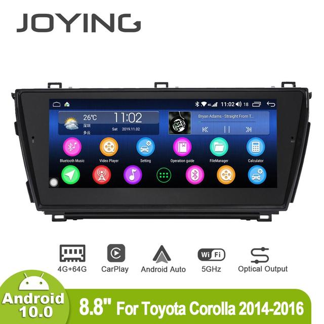 Joying 8.8inch Android10 Car Radio for Toyota Corolla 2014 2015 2016 GPS DSP Carplay 5G WIFI Optical Output Subwoofer SPDIF
