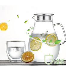 Glass Pitcher Carafe Teapot-Set Cold/hot-Water with Lid-And-Spout Thickened Borosilicate