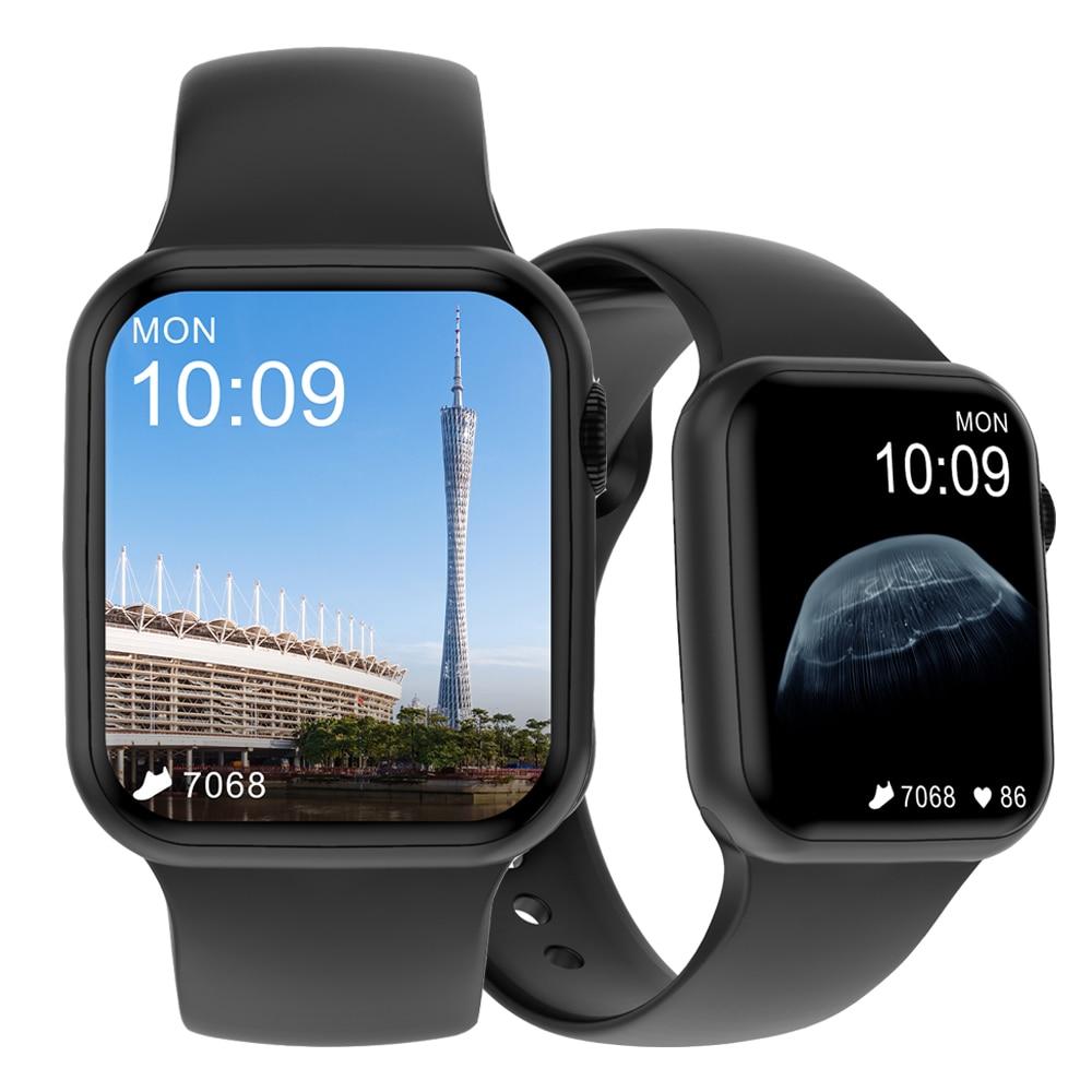 Смарт-часы 2021 PK IWO W66 W46 Смарт-часы Bluetooth вызова динамические пользовательские часы уход за кожей лица 1,75 дюймов ЭКГ IP67 для мужчин женщин для iOS...