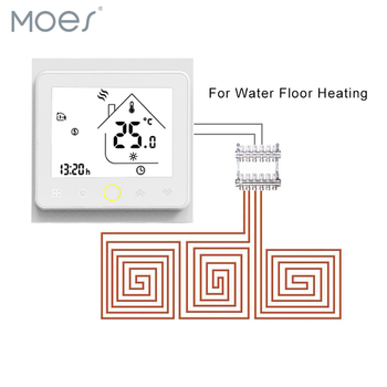 Weekly Programmable Underfloor Heating Thermostat LCD Touch Screen Room Temperature Controller Thermostat With Backlight