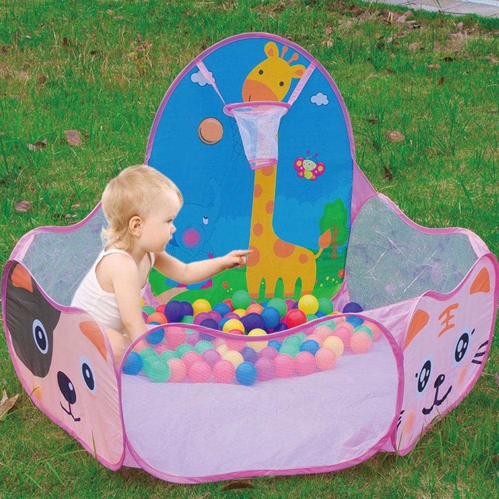 Safe Kids Playpen Portable Baby Ball Pool Children's Playpen Folding Child Fence Indoor Outdoor Children's Pool Balls Baby Toys