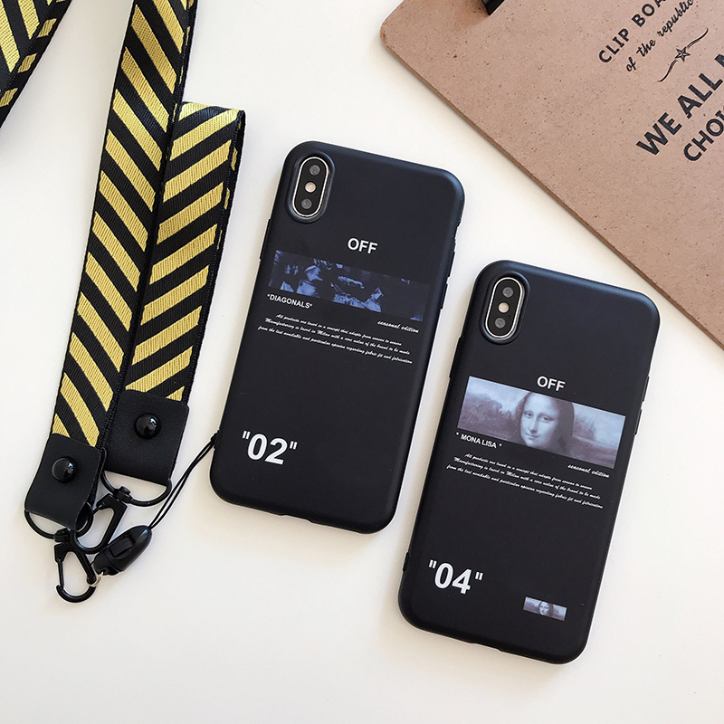 Hot <font><b>off</b></font> ow malerei stripes soft silicon abdeckung fall für <font><b>iphone</b></font> 7 XR 6 7 plus 8 8plus <font><b>X</b></font> <font><b>XS</b></font> 11 Pro <font><b>Max</b></font> weiß crossing telefon couqe image