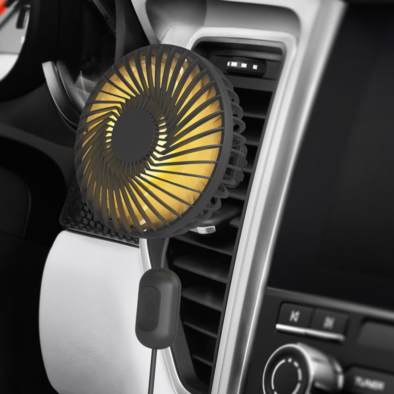 Car Air Cooler Fan Silent Car Air Conditioner 360 Degree Rotating Cooling Fan Auto Backseat Air Vent USB Cooling Fan Cooling