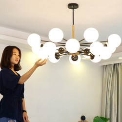 Regulowany połysk LED żyrandol do salonu drewna światła wiszące nabłyszczania para sala de jantar oświetlenie do jadalni w Wiszące lampki od Lampy i oświetlenie na
