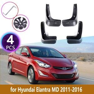 4 PCS Car Mudguards For Hyundai Elantra MD 2011 2012 2013 2014 2015 2016 Cladding Splash Mud Flaps Mud guard Mudflap Accessories