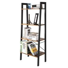 Retro Simple Book Shelf Floor Shelf Bookcase Home Vertical Movable Storage Mounting Bookcase Modern Sofa Side Cabinet Hwc