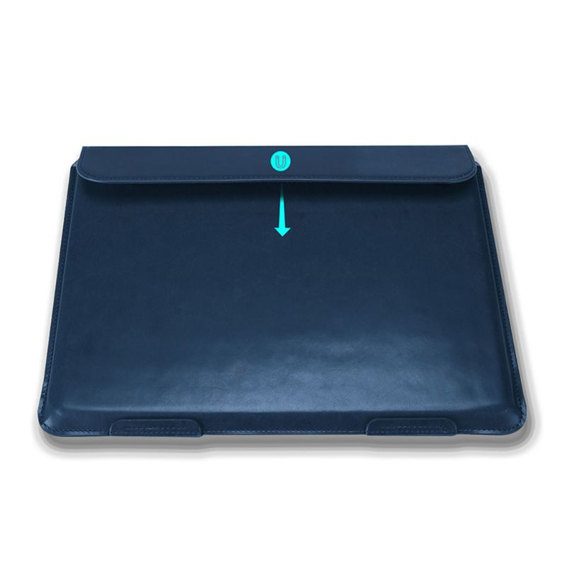 PU Leather Laptop Case Protective Cover for 15.4