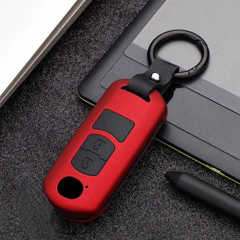ABS+Silicone Car Key Case Cover For <font><b>Mazda</b></font> 2 3 6 Atenza Axela CX3 CX-5 CX5 CX 5 CX7 <font><b>CX9</b></font> MX5 2015 2016 <font><b>2017</b></font> 2018 2019 Accessories image