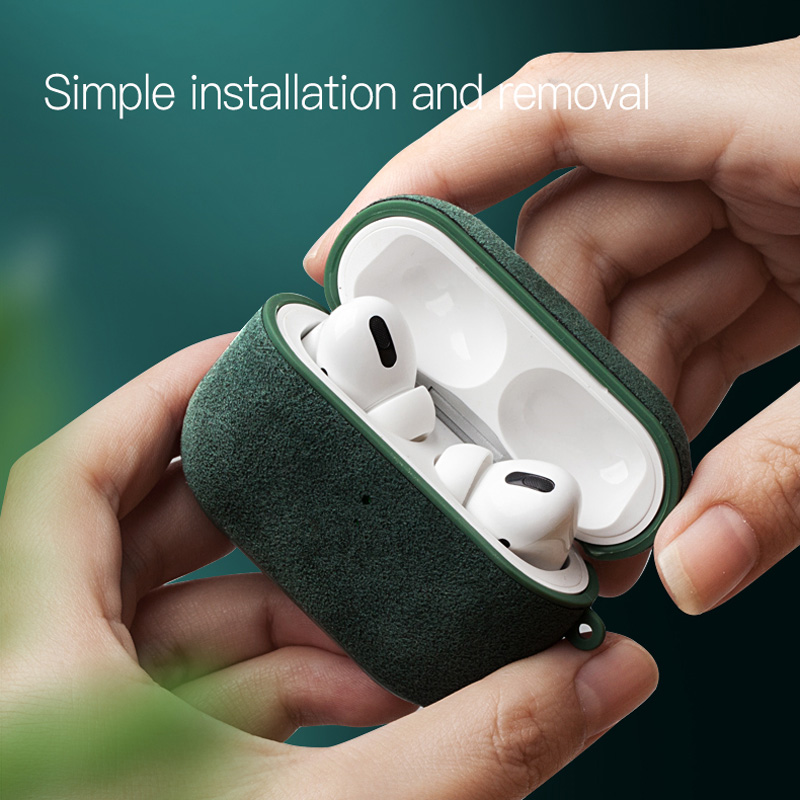 lowest price YMW Italian Alcantara Case for AirPods Pro Luxury Artificial Leather AirPod case for AirPods 2  amp  1 Cases Wireless Charging