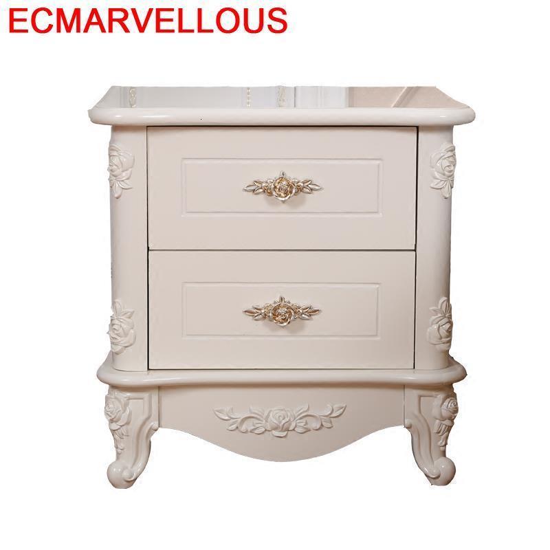 Maison Recamaras Chevet Meuble Mesa Slaapkamer European Wood Mueble De Dormitorio Quarto Cabinet Bedroom Furniture Bedside Table