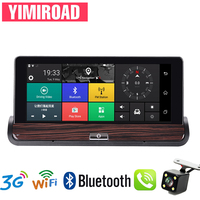 YIMIROAD G2 Rear View Mirror 3G Car Dvr Reverse Camera Remote Parking Monitor GPS Navigator Auto Recorder Full HD 1080P Dash Cam