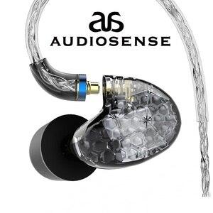Image 1 - AUDIOSENSE T260 PRO  Detachable MMCX 8Strands 19Core SCX  Wire  2 Knowles Balanced Armature Monitor HiFi  Earphone