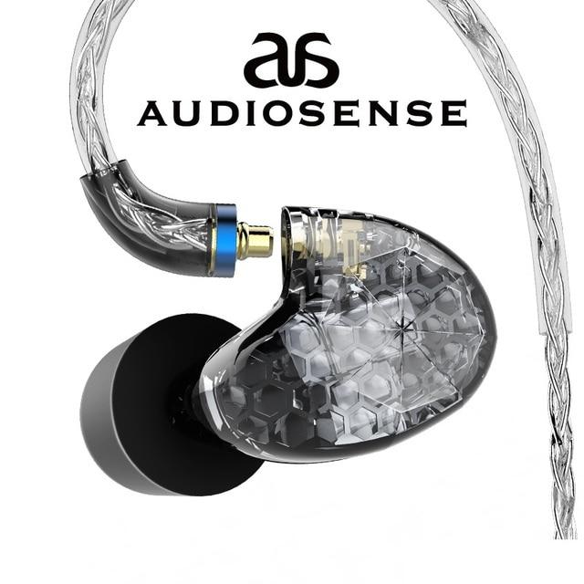AUDIOSENSE T260 PRO  Detachable MMCX 8Strands 19Core SCX  Wire  2 Knowles Balanced Armature Monitor HiFi  Earphone