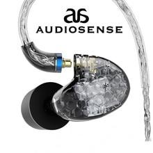 AUDIOSENSE T260 PRO 분리형 MMCX 8 가닥 19 코어 SCX 와이어 2 Knowles 평형 전기자 모니터 HiFi 이어폰