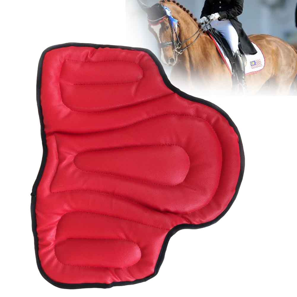 Comfortable Jumping Outdoor Equestrian Equipment Accessories Thickening Horse Riding Saddle Pad Training Shock Absorption PU