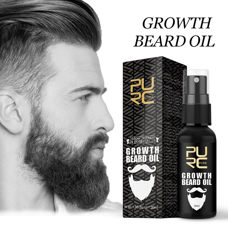Purc Beard Growth Oil Grow Beard Thicker & More Full Beard Oil For Mustache Beard Care Hair Growth 30ml|Hair Loss Products| - AliExpress