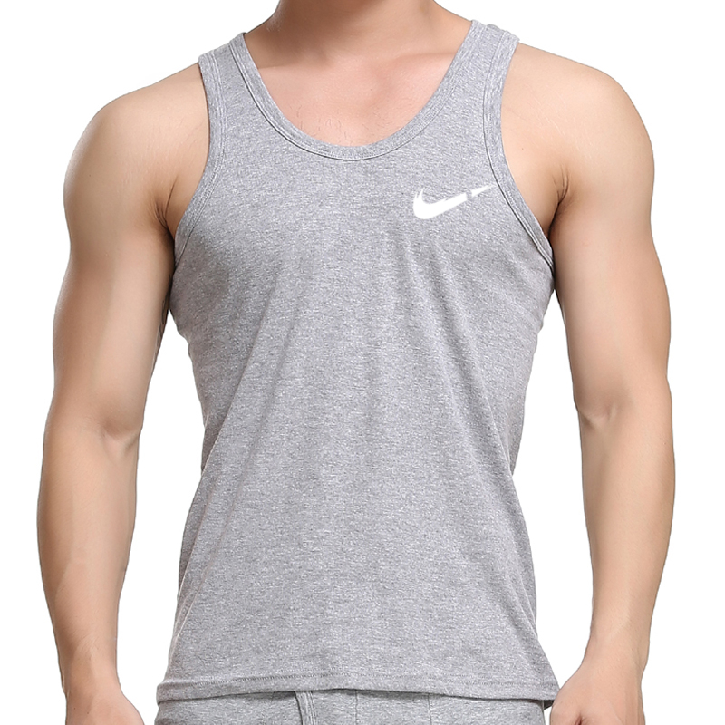 2020 Fashion   Tank     Top   Men Cotton Casual Fitness Sleeveless Bodybuilding hot Shirts Print O-Neck Men Clothing Men Tee Men White