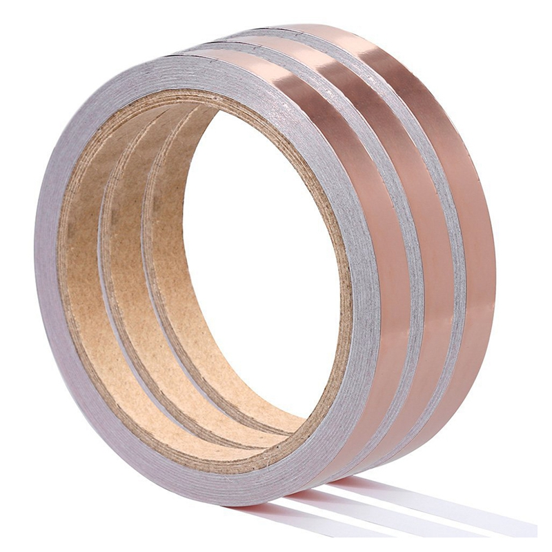 3*10M Copper Foil Tape With Conductive Adhensive EMI Shielding Conductive Adhesive For Stained Glass,Paper Circuits,Electrical