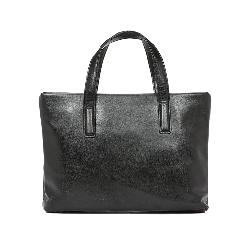 Brand Crazy Horse PU Leather Men Briefcase Vintage Big Business Laptop Handbag Fashion Brown Messenger Shoulder Bag Man