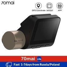 70mai çizgi kam Lite GPS hız koordinat araba dvrı WIFI park monitörü otomatik Video kaydedici 1080P HD gece görüş Dash kamera