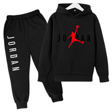 Oversized hoodie 23 Casual Tracksuit boy Hooded Sweatshirt Spring Autumn girl Sets 2021 Jogging Sport Suit baby Hip Hop Pullover