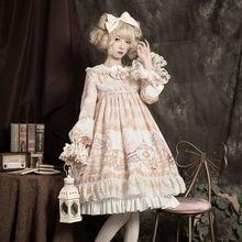 Lolita-Dress Vintage Victorian Gothic Long-Sleeve Sweet Princess OP -Childhood-Dream