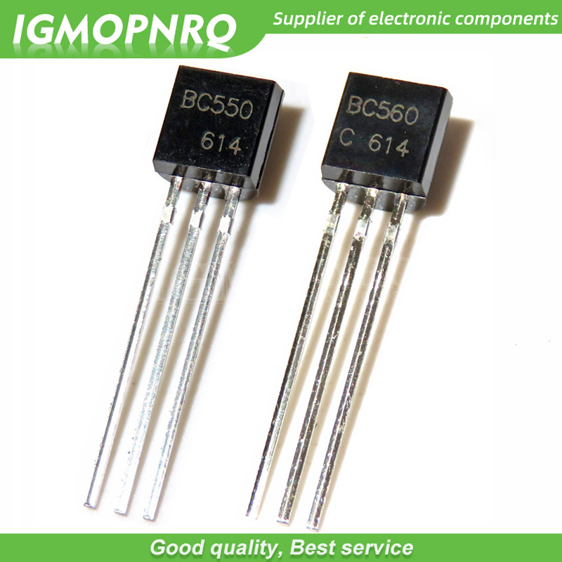 50PCS BC550C + BC560C Each 25pcs BC550 BC560  Transistor DIP-3 45V 0.1A TO-92 New Original Free Shipping