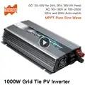 1000W On Grid Tie Solar Inverter, 20 50V DC to AC 80 260V Pure Sine Wave Inverter for 1000 1200W 24V, 30V, 36V PV or Wind Power